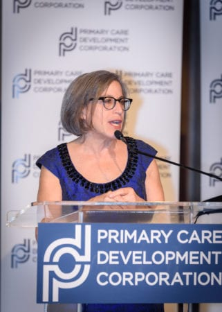 Louise Cohen speaking at PCDC's Founders reception