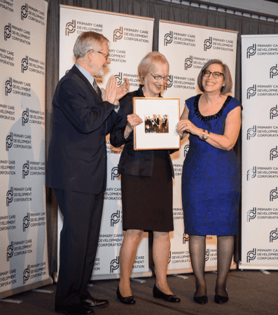 Kotelchuck receiving the PCDC Lifetime Acheievement Award