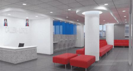 Rendering of the Callen-Lorde lobby