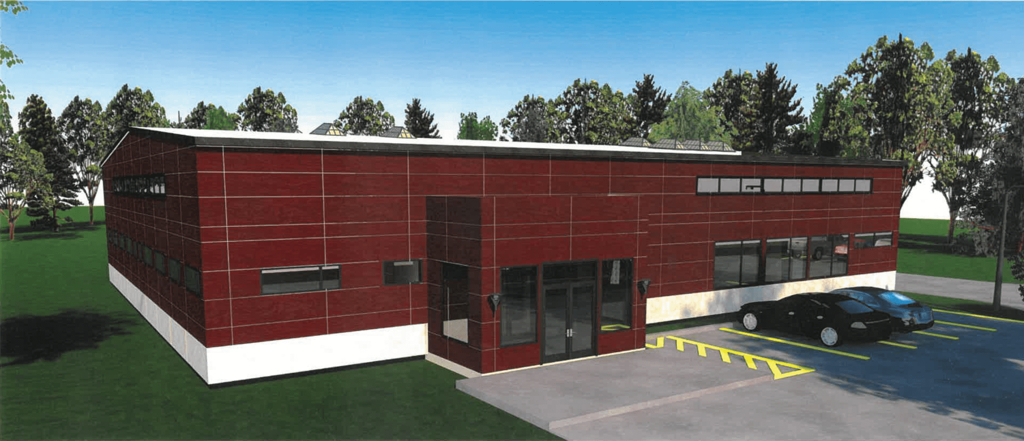 Rendering of the new St. Joseph's facility in Saranac Lake, NY