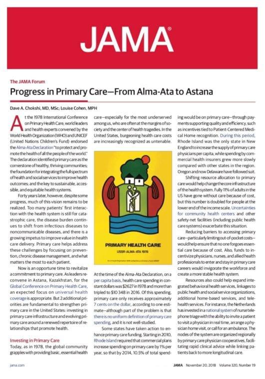 A screenshot of the JAMA article